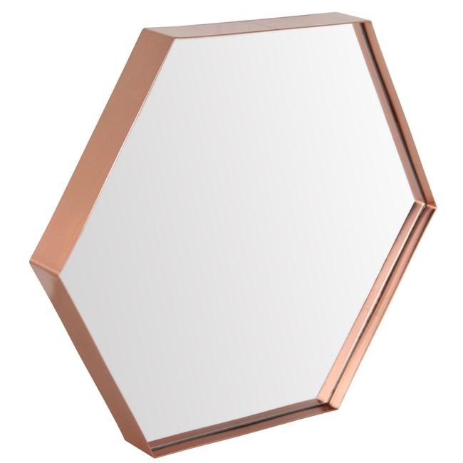 羅伊六角紅銅壁鏡