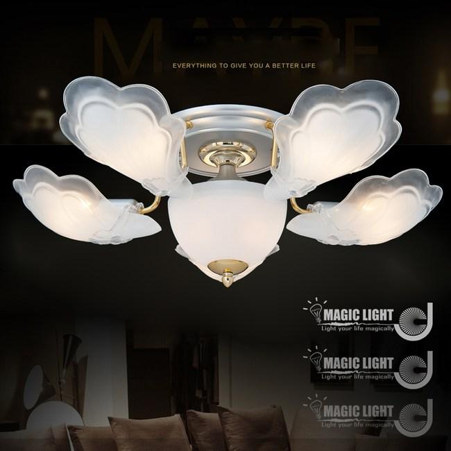 【光的魔法師】金天使 半吸頂五燈 臥室燈具 吸頂燈飾