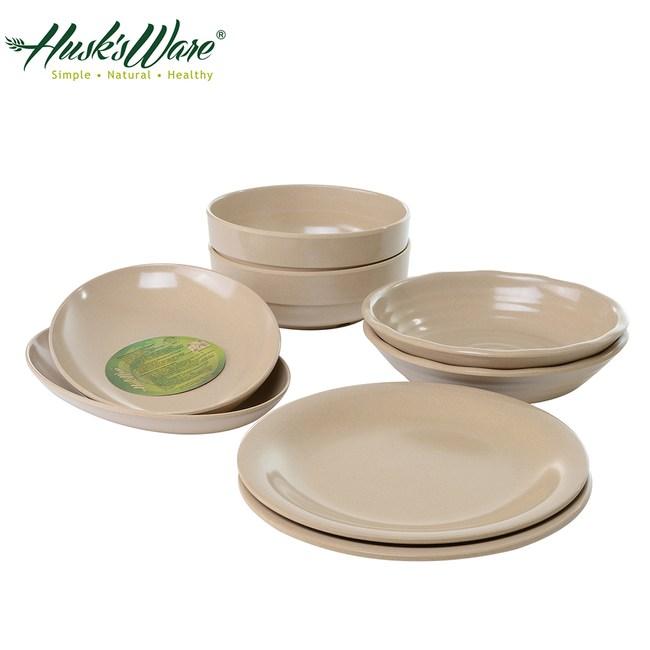 美國Husk's ware 稻殼天然無毒環保餐盤8件組