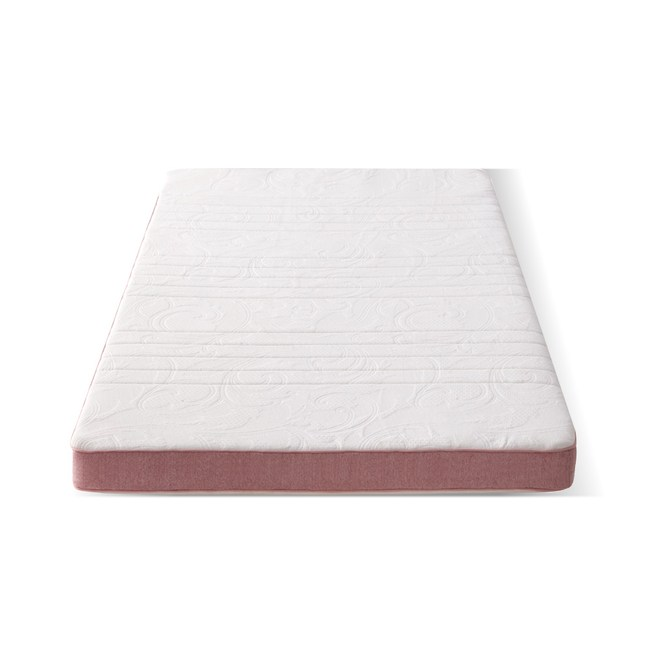 源氏木語舒眠防螨乳膠山棕釋壓薄床墊3.3尺/100x200x10cm J46粉