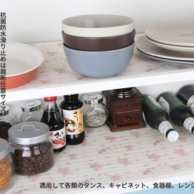 【KM生活】衣櫃墊櫥櫃墊抽屜墊防塵除桌墊圓點碎花水果3入/組-隨機出貨