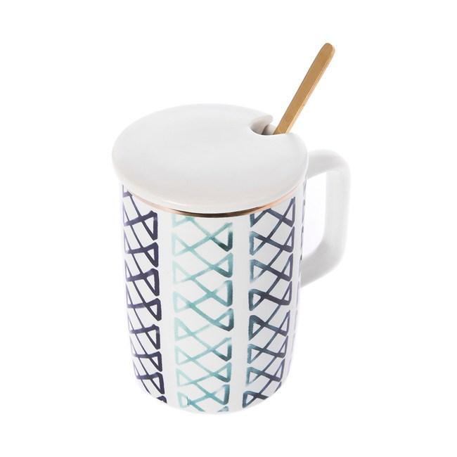 霓虹水彩杯 320ml 單個 附杯蓋及攪拌匙  共四款式 混款隨機