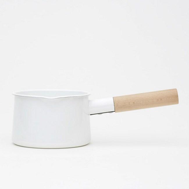 日本《kaico》 簡約風 琺瑯牛奶鍋‧M尺寸