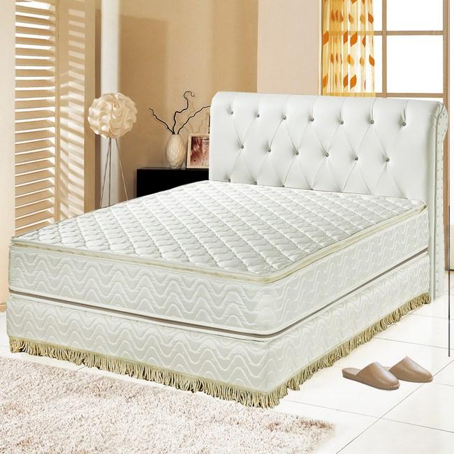 【睡芝寶】正四線矽膠-3M防潑水蜂巢式獨立筒床墊單人3.5尺