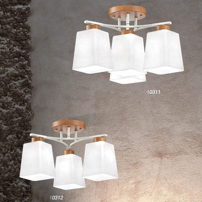 【PW居家燈飾】 北歐風臥室/書房半吸頂燈 3+1燈