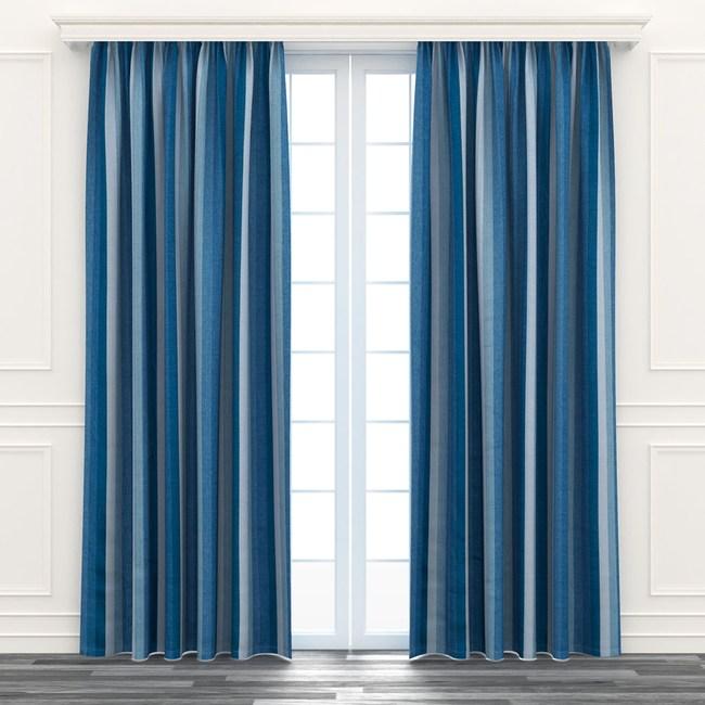 日式漸變遮光窗簾 寬200x高165cm 藍色