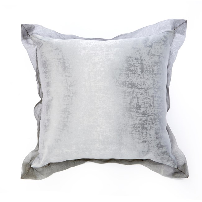 【Finara 費納拉】銀色冰晶-奢華風抱枕/靠枕(60x60)