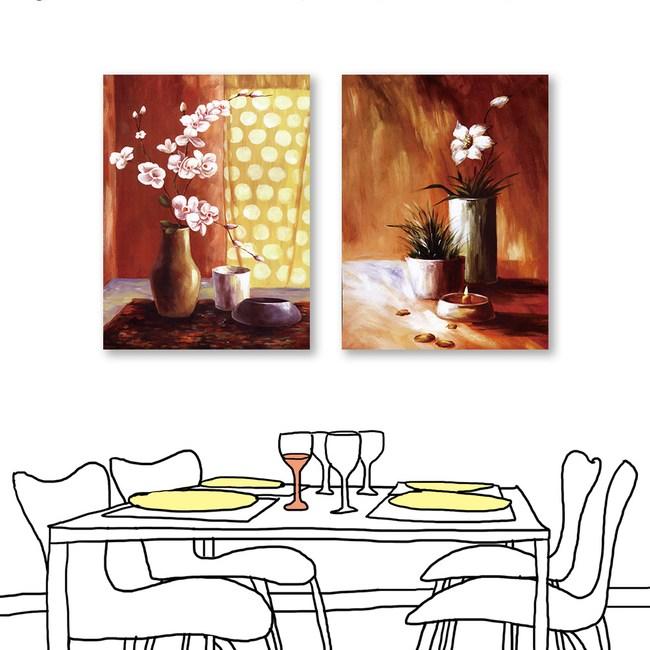 24mama掛畫  單聯式 粉色花卉 油畫風無框畫 60X80cm