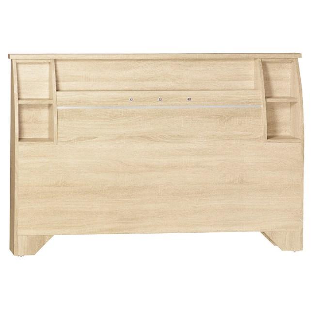【YFS】賴昂內爾5尺原切橡木床頭片-154.5x12x101cm