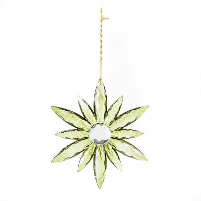 雪花吊飾 橄欖綠11cm