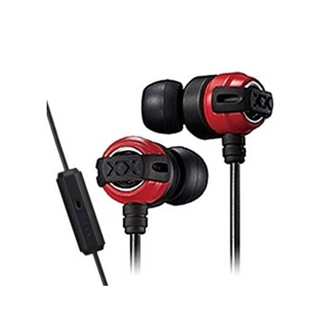 【送收納盒】JVC HA-FX11XM 紅黑 線控入耳式耳機 重低音系列