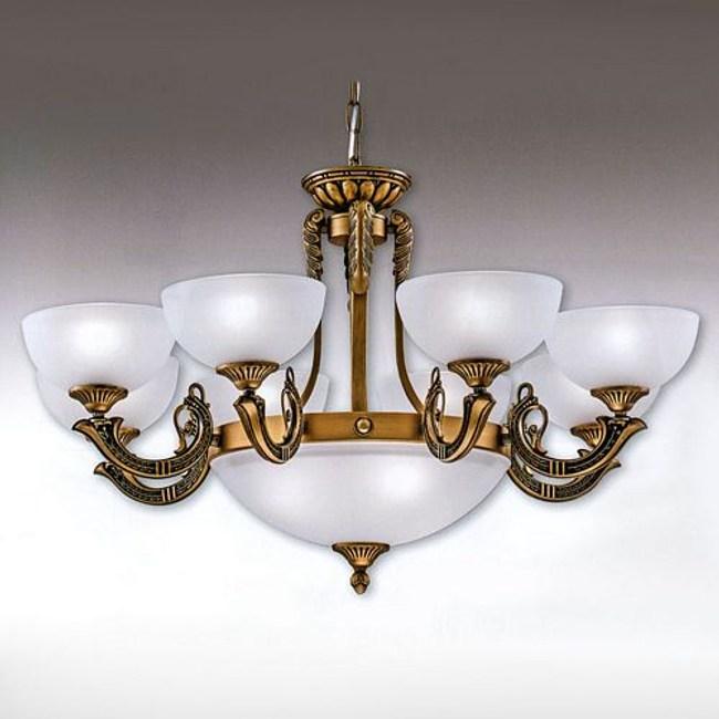 YPHOME 金屬玻璃吊燈八燈 S80931H