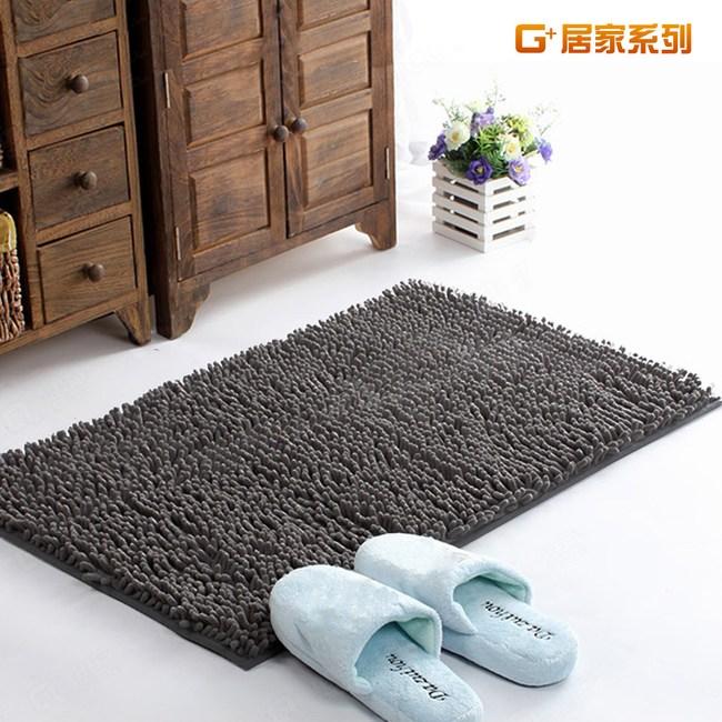 【G+居家】超細纖維長毛吸水止滑墊 40x60cm- 時尚灰