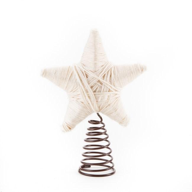 毛線樹頂星 米色