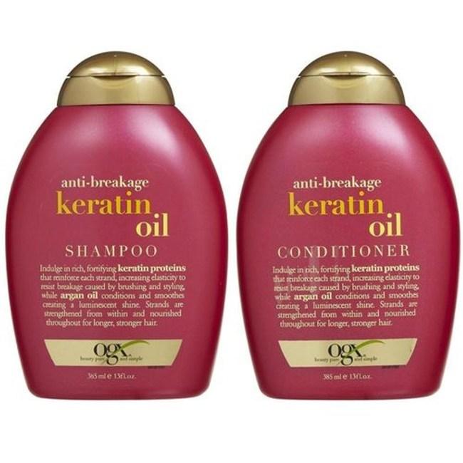 美國Ogx角蛋白油有機洗髮乳*2+潤髮乳*1
