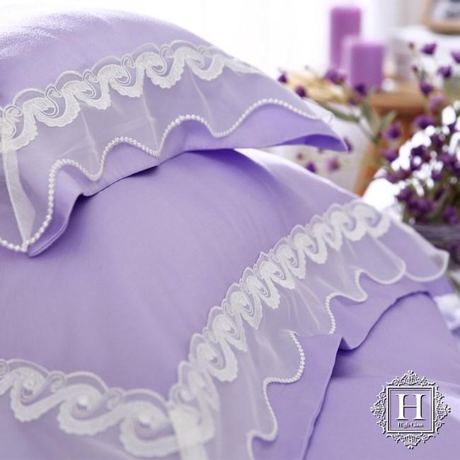 【HOYA H Series潘朵拉紫】加大五件式天絲蕾絲被套床包組