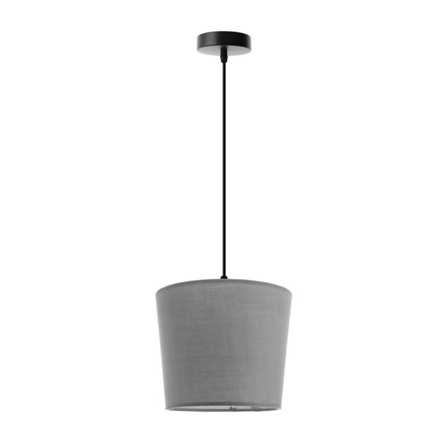 (組)特力屋萊特黑吊燈灰色燈罩-18cm