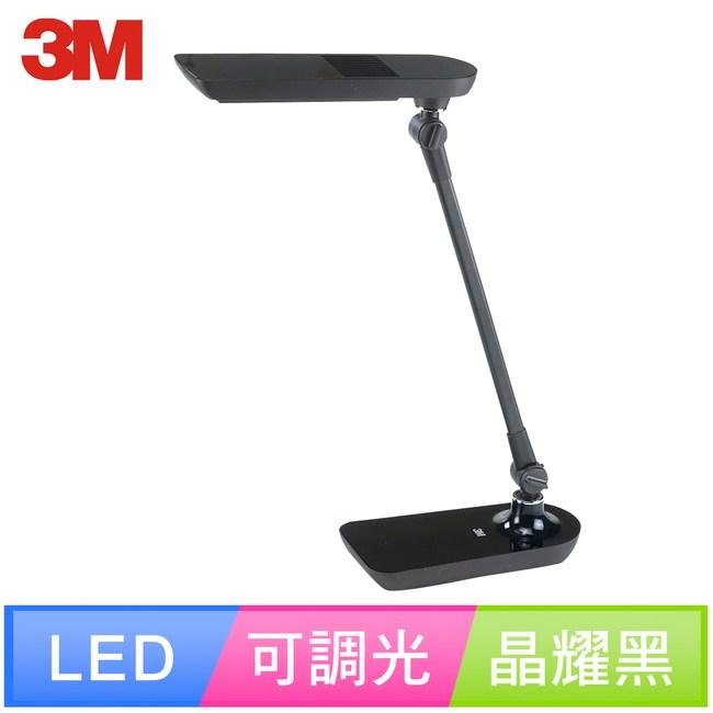 【3M】58度LED可調光博視燈桌燈檯燈LD6000(黑/白/綠)晶耀黑