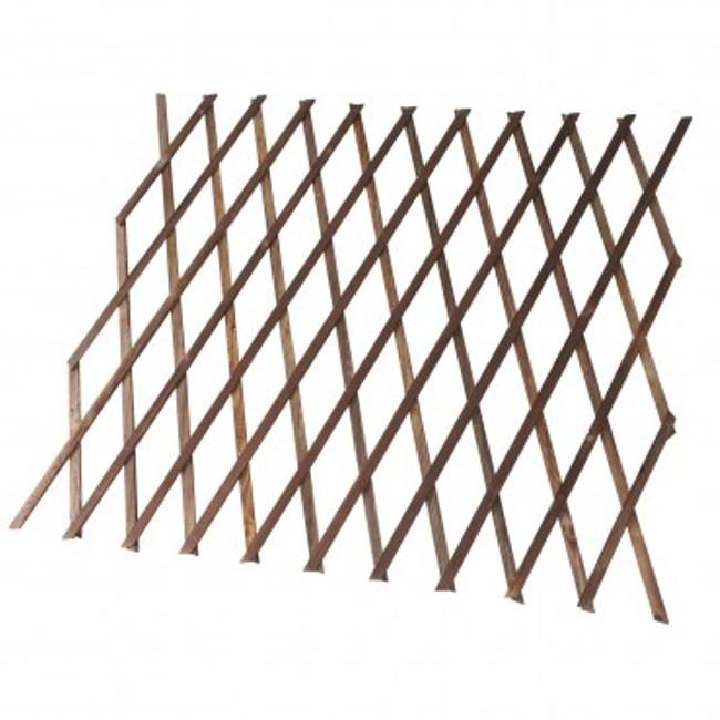 燻木伸縮籬笆 收起高度120cm