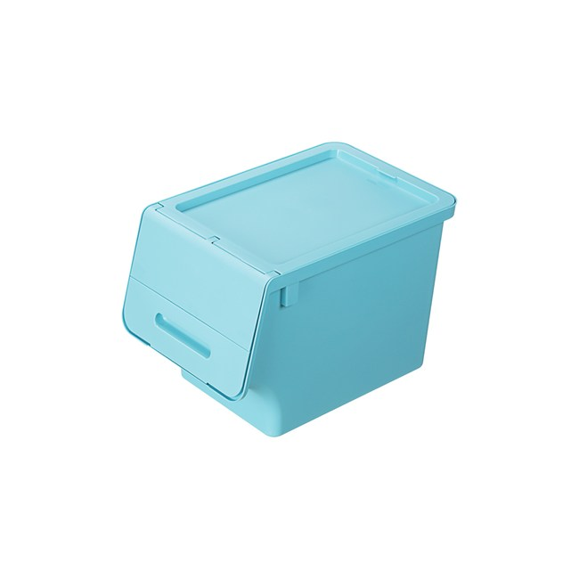 BQ830-2 箱根直取式整理箱30L(水藍)