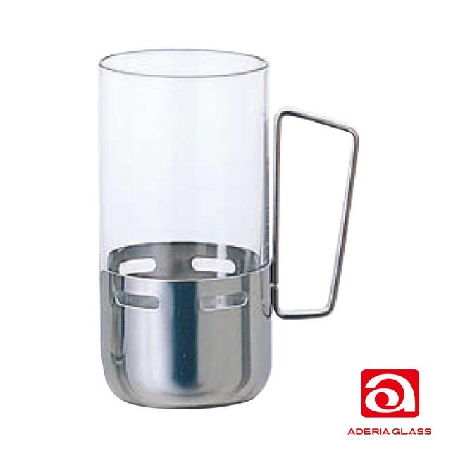 日本ADERIA 不銹鋼握把強化杯315ml