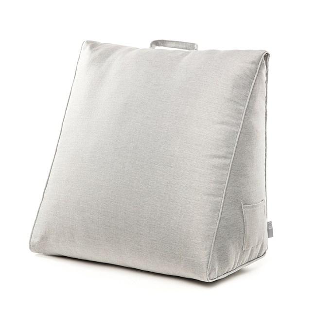 HOLA 素色織紋三角大靠墊57x50x30cm銀灰色