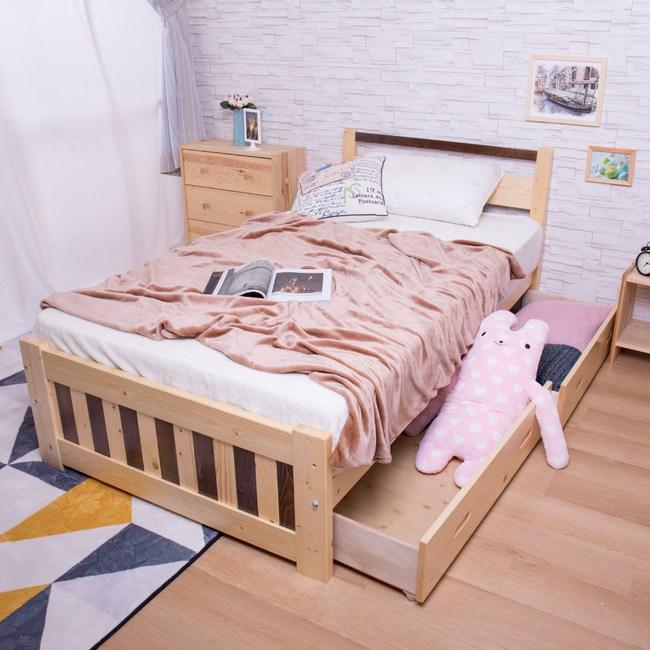 【YFS】伊芳3.5尺實木抽屜板床-107x200x82cm