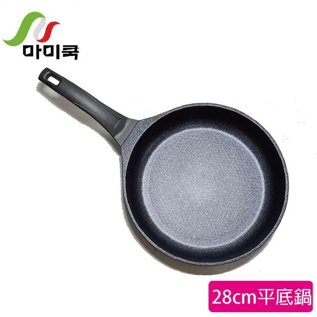 【韓國mami.cook】頂級藍寶鈦金鑽不沾平煎鍋(28CM)