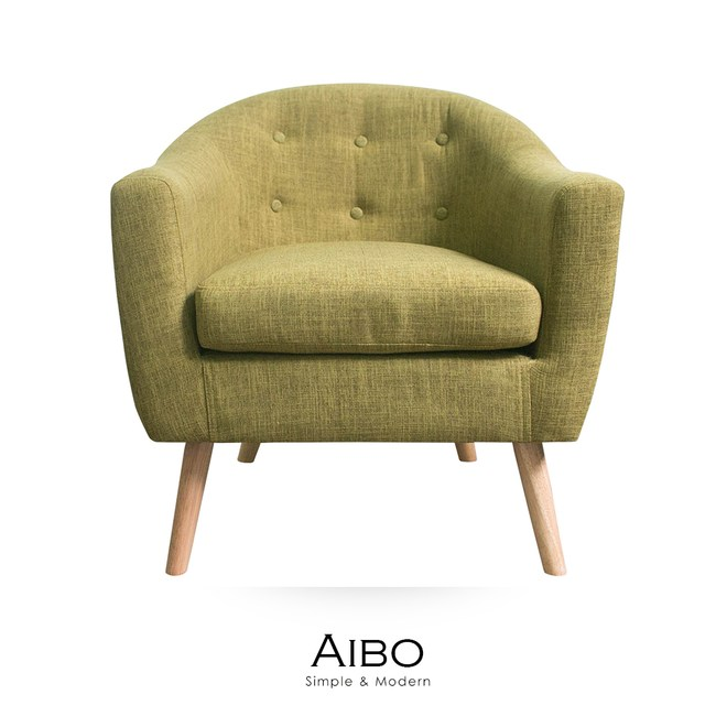 【obis】AIBO愛絲柏單人沙發(三色)綠色