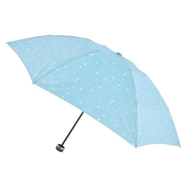 2mm 清漾幾何 晴雨兩用抗UV輕量手開傘_綠色幾何