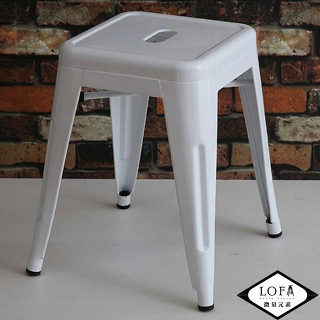 【微量元素】復刻新工業無背經典餐椅/四入(4色)白