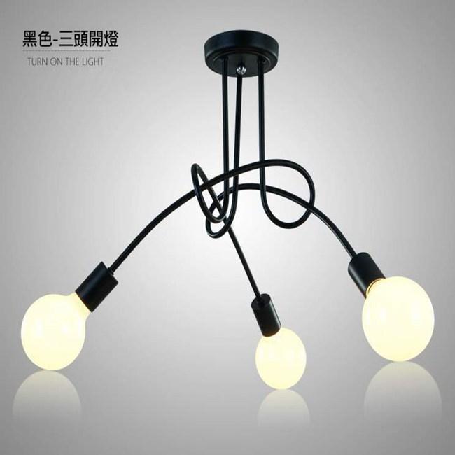 HONEY COMB 現代感工業風簡約半吸頂燈 3光源 TA8215