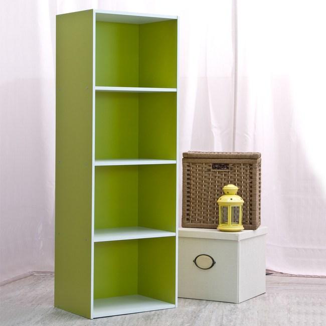 智慧生活四格櫃-綠