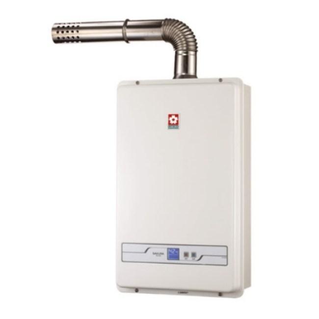 櫻花13公升強制排氣(H1335)熱水器數位式H-1335
