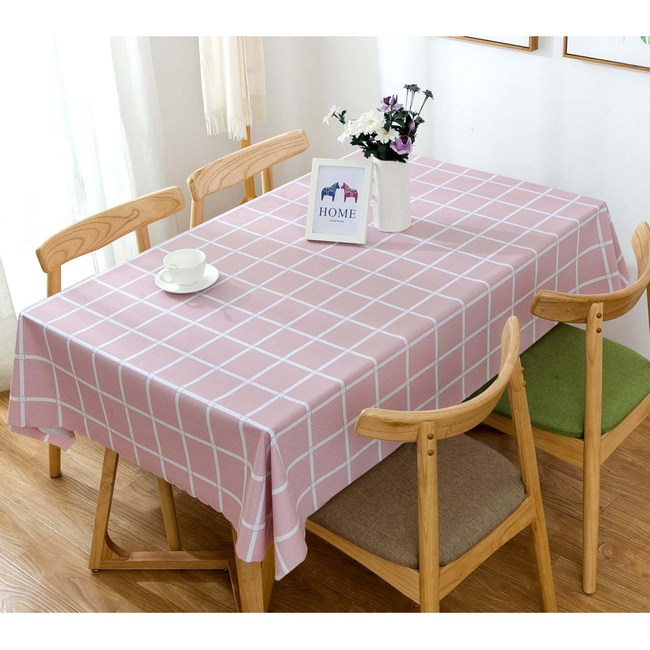 【三房兩廳】北歐風格防水防油桌巾/桌布-140X180cm(大格紅)