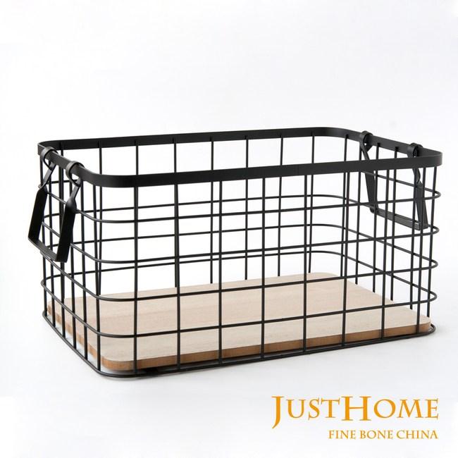 Just Home工業風GARDEN置物鐵製提藍33.5x22.5cm