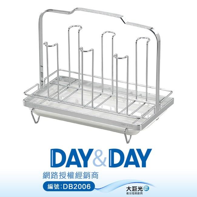【DAY&DAY】不鏽鋼杯架-六個入/附滴水盤(ST3016ST)