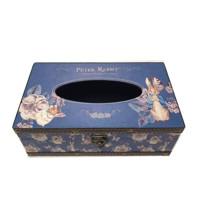 比得兔Peter Rabbit彼得兔復古面紙盒-山茶花藍