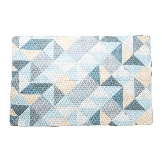 樂嫚妮 防滑長地墊/走道墊/床邊墊/萬用踏墊-120X190cm幾何藍