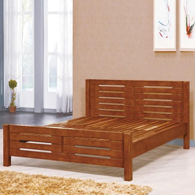 【YFS】愛爾頓6尺全實木三段可調式床台-188x201x90cm