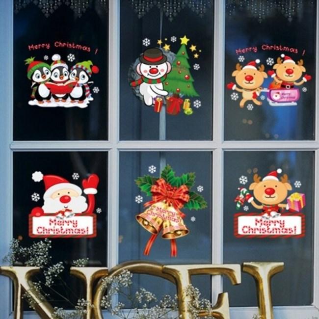 創意無痕壁貼 彩色聖誕老人 60x90cm