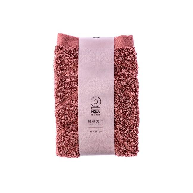 HOLA 葡萄牙純棉方巾-雲葉紅33x33cm