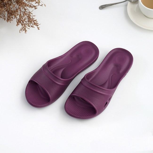 維諾妮卡 嚴選Q彈家居拖鞋-紫S