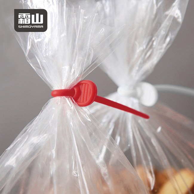 【日本霜山】可扣式矽膠食品束帶/封口器/捲線器-3種不同尺寸-18條入單一規格