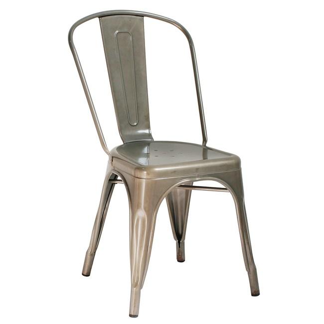 【YOI傢俱】布朗特餐椅-金屬原色金屬原色