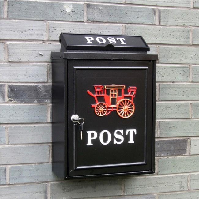【PUSH!居家生活用品】英倫風個性化信箱 郵箱(紅馬車)I49