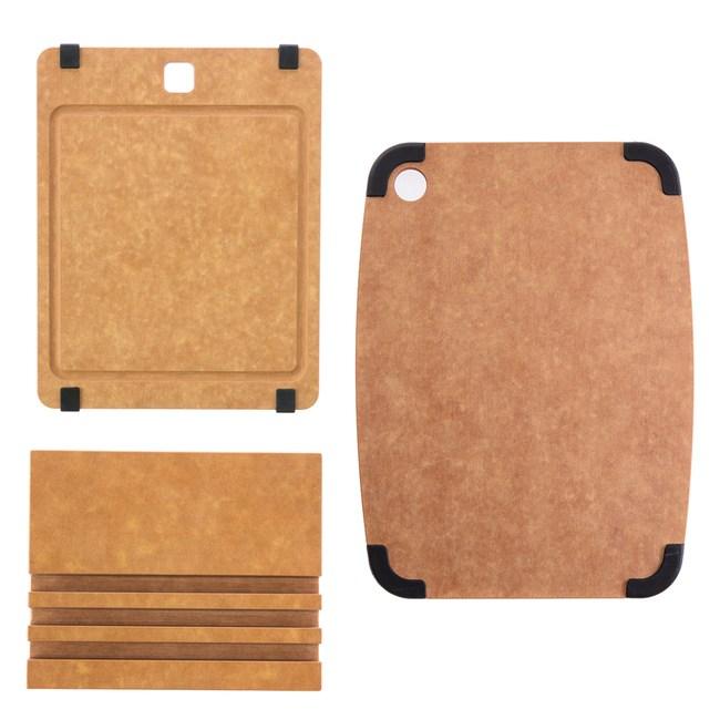 (組)高密度木纖維溝槽止滑砧板(S)+高密度木纖維止滑砧板(M)+砧板座