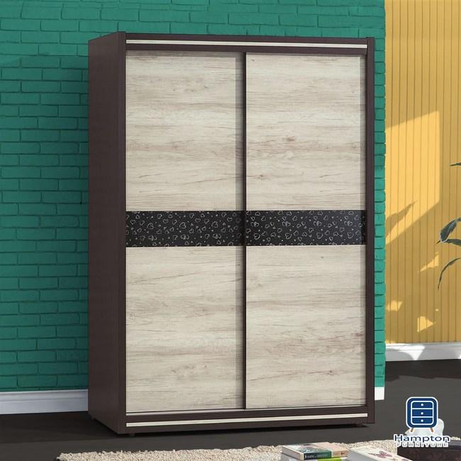 【Hampton 漢汀堡】斯賓賽雙色4x7推門衣櫃