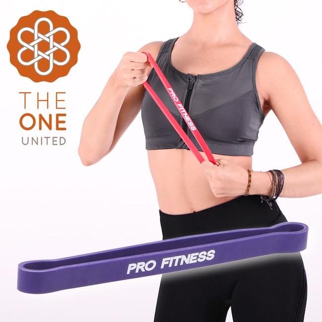【The One】瑜珈健身 環形阻力帶-紫(15-45磅)