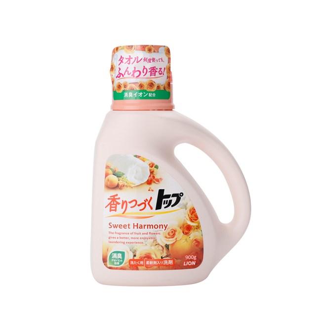 日本獅王香氛柔軟濃縮洗衣精_900g